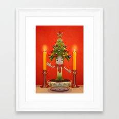 Little Christmas Tree Framed Art Print