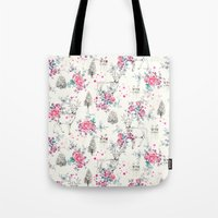 Deer pattern Tote Bag