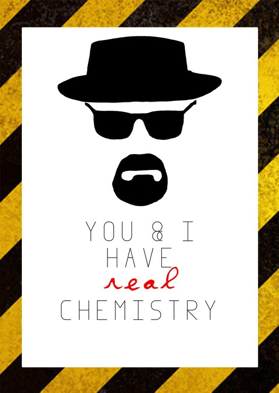 HEISENBERG BREAKING BAD Real Chemistry Art Print