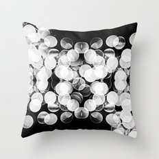Bokeh Symmetry 3 Throw Pillow