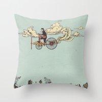 Steam FLY Throw Pillow