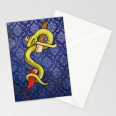 Knife and Snake tattoo print Stationery Cards