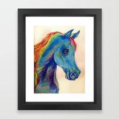 Horse-Head Hues Framed Art Print