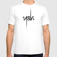 Leave Only ASH Mens Fitted Tee White SMALL