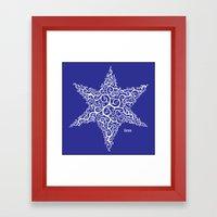 David's Star Framed Art Print