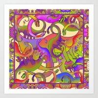 DINOS MELI MELO Art Print