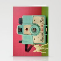 Imperial Horse (Blue Camera, Toy Horse) Stationery Cards