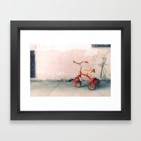 Childs Vintage Tricycle Framed Art Print