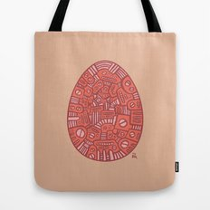 Red Mechanical Egg Tote Bag