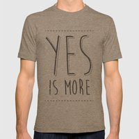 Yes is More Mens Fitted Tee Tri-Coffee SMALL