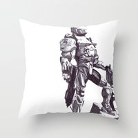 Master Chief 117 Throw Pillow