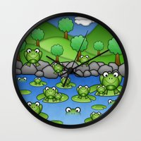 Froggies!  Wall Clock