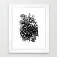 Vulture and Pine Framed Art Print