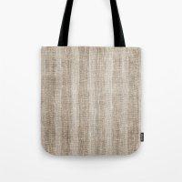 Striped Burlap (Hessian … Tote Bag