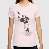 Number Twenty Four Womens Fitted Tee Light Pink SMALL