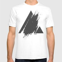PLACE Triangle Mens Fitted Tee White SMALL