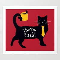 The Bossy Cat Art Print