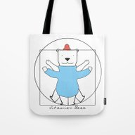 Vitruvian Bear Tote Bag