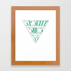 s6_tee_4 - I'm an S6 Phonetic Framed Art Print
