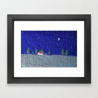 Night scenes Framed Art Print
