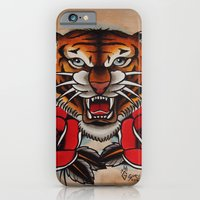 Old School Tiger and roses - tattoo iPhone 6 Slim Case