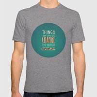 steve jobs Mens Fitted Tee Tri-Grey SMALL