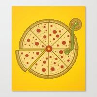 Pizza Vinyl Canvas Print