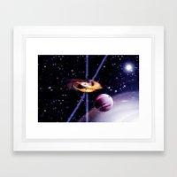 Combined Gravity. Framed Art Print