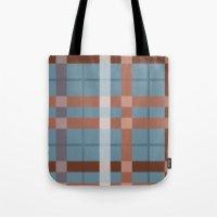 Urban Earth Tone Plaid  Tote Bag