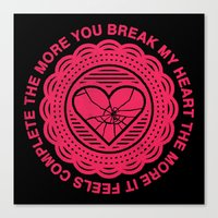 Shattered Hearts Badge Canvas Print