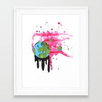 Broken Earth  Framed Art Print