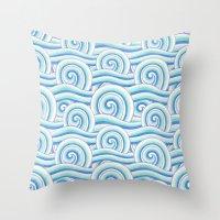 Auspicious Waves Throw Pillow