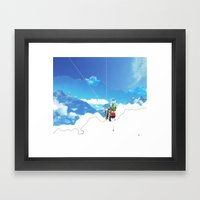 Experiment am Berg 35 Framed Art Print