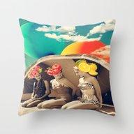 Throw Pillow featuring Salade De Fruits by Kiki Collagist