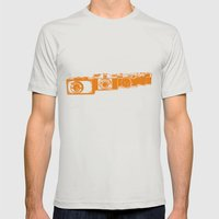 Orange photo Mens Fitted Tee Silver SMALL