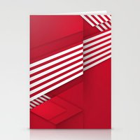 Optical illusion_red Stationery Cards