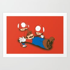 Tragic Ending-red Art Print