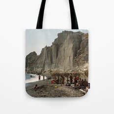 Eros Beach, Santorini Tote Bag