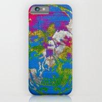 the 4i skull - mixed media on canvas iPhone 6 Slim Case