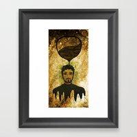 Man Time Framed Art Print