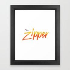 The Zipper Framed Art Print