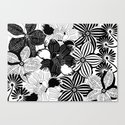 Flowers black & white serie 2 Canvas Print