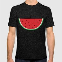 Watermelon Fisher Mens Fitted Tee Tri-Black SMALL