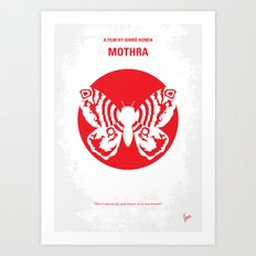 No391 My Mothra minimal movie poster Art Print