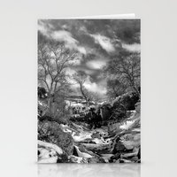 Waterfall Snowfall Stationery Cards
