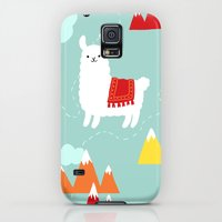 Galaxy S5 Cases featuring Llama Love  by LittleKnids