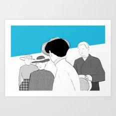 WHITE RIBBON Art Print