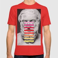 Sculpture With A Spectru… Mens Fitted Tee Red SMALL