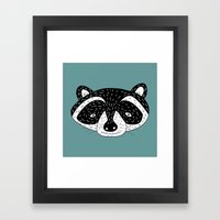 Racoon! Framed Art Print