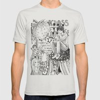 Across The Universe Mens Fitted Tee Silver SMALL